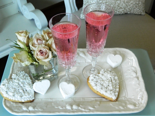 Cookie Hearts & Sparkling Pink Lemonade