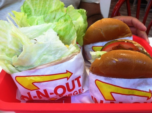 in & out hamburgers only