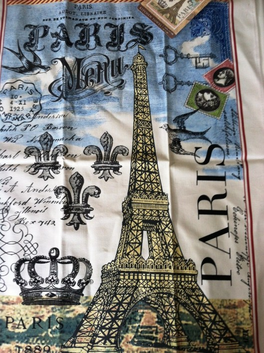 paris hand towel # 2